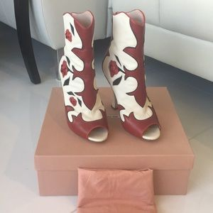 Mui Mui Limited addition open toe heeled boots